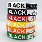 Silicone Silicone Wristband Bracelet Hot Sales Black Lives Matter Silicone Wristbands I Cant Breathe Cheapest Silicone Bracelets On Stock