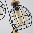 Classic metal cage chandelier light vintage retro pendant lamp for bar amber lampshade industry linear pendent lamp