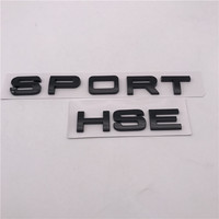 Car Logo Emblem Badge Sticker Custom ABS plastic chrome 3D black and silver Letters