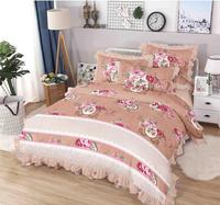 China customized cheap 100% polyester microfiber solid color bedding set