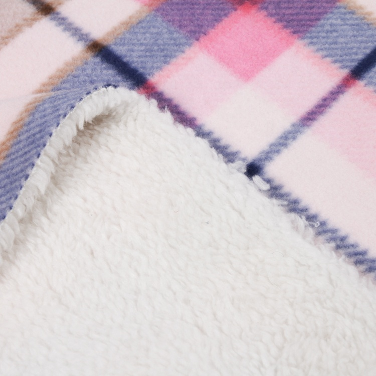 Latest innovative printed polar bonded sherpa knit fleece fabric