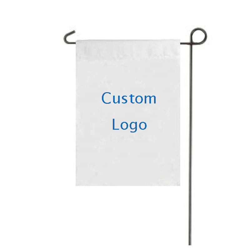 MORNING printing white blank garden <strong>flag</strong> outdoor yard decoration garden <strong>flag</strong> with pole