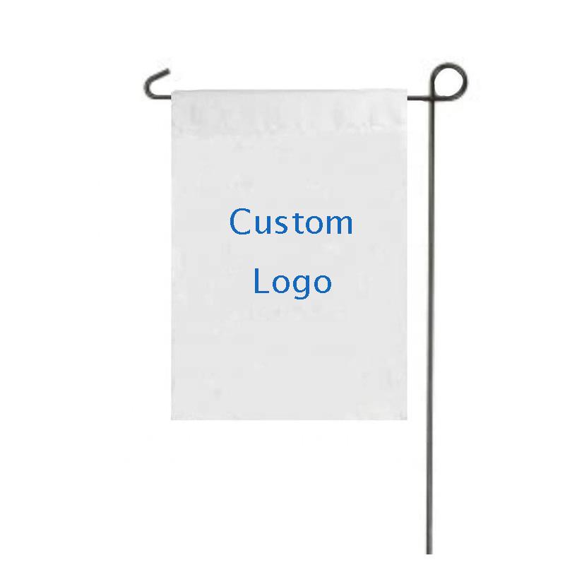 MORNING printing white blank garden flag outdoor yard decoration garden flag with pole