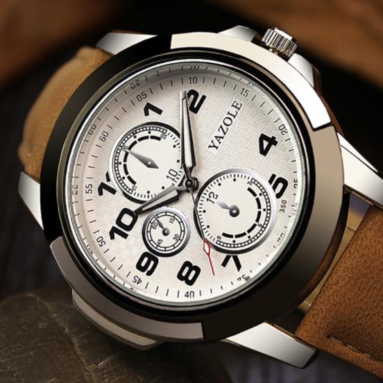 350 Fashion Sport Men Watches Quartz Waterproof Luminous False 3 Pointers Design Wrist Watch For Sale фото