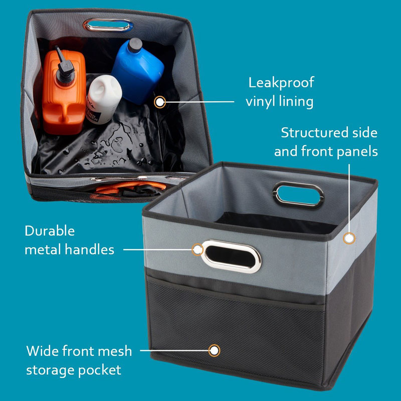 Leakproof Car Trunk Organizer Bin Collapsible Storage Bag Waterproof Car Organizer Bag