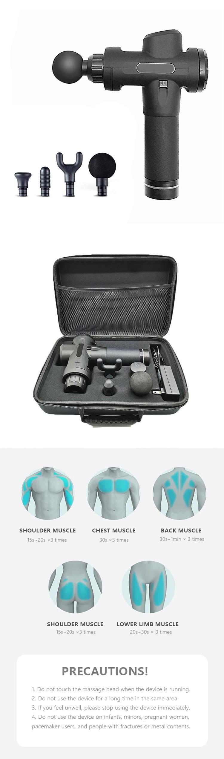 IN STOCK EU US Dropshiping Massage Gun 24V Muscle Massager Sports Ultra-Quiet 20 Speeds Level post-workout massage guns