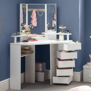 8 Drawer Dresser Bedroom Mirror Furniture Dressing Table Classic