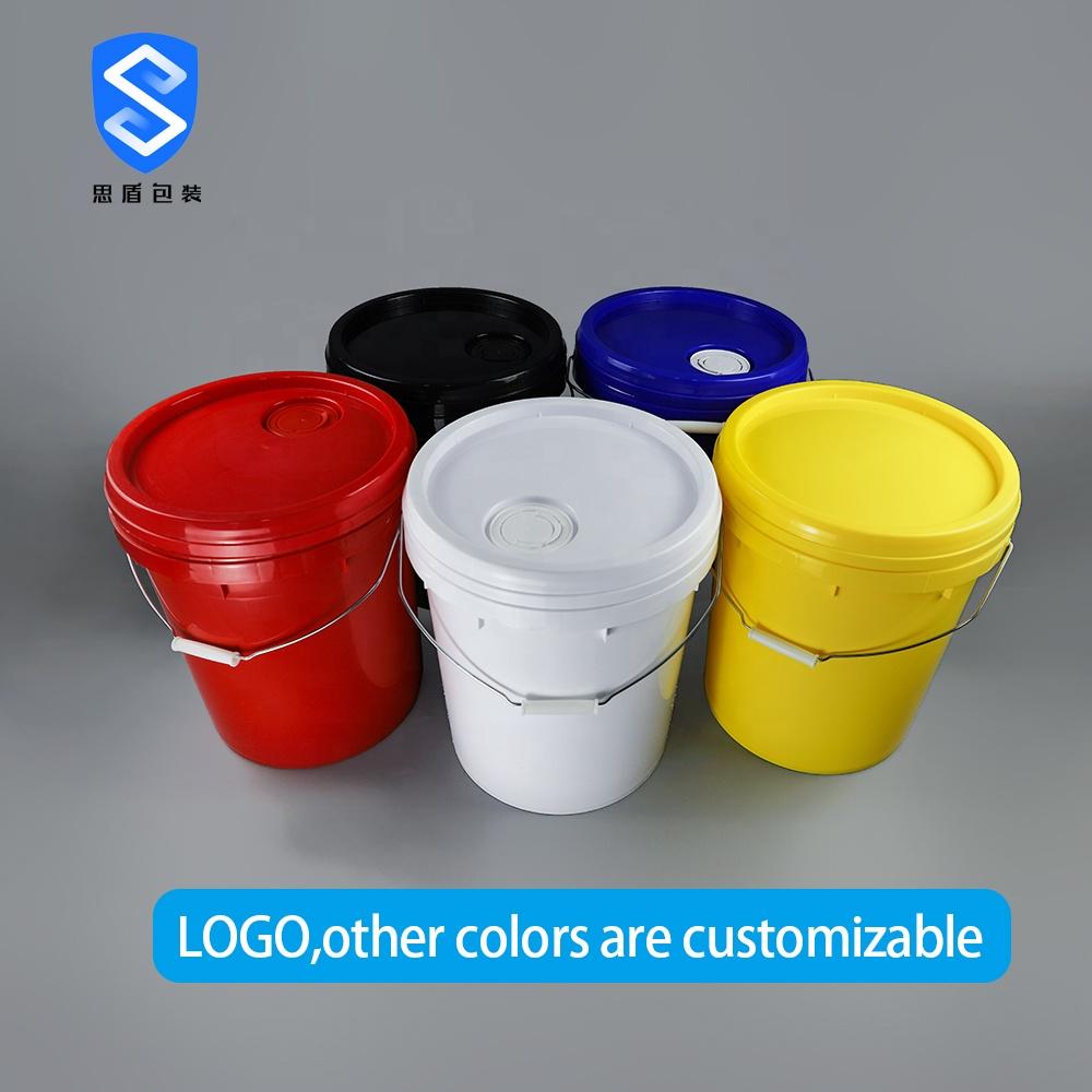 Drum Susun Plastik Top Terbuka, 2L/4L/5L/6L/10L/18/20l