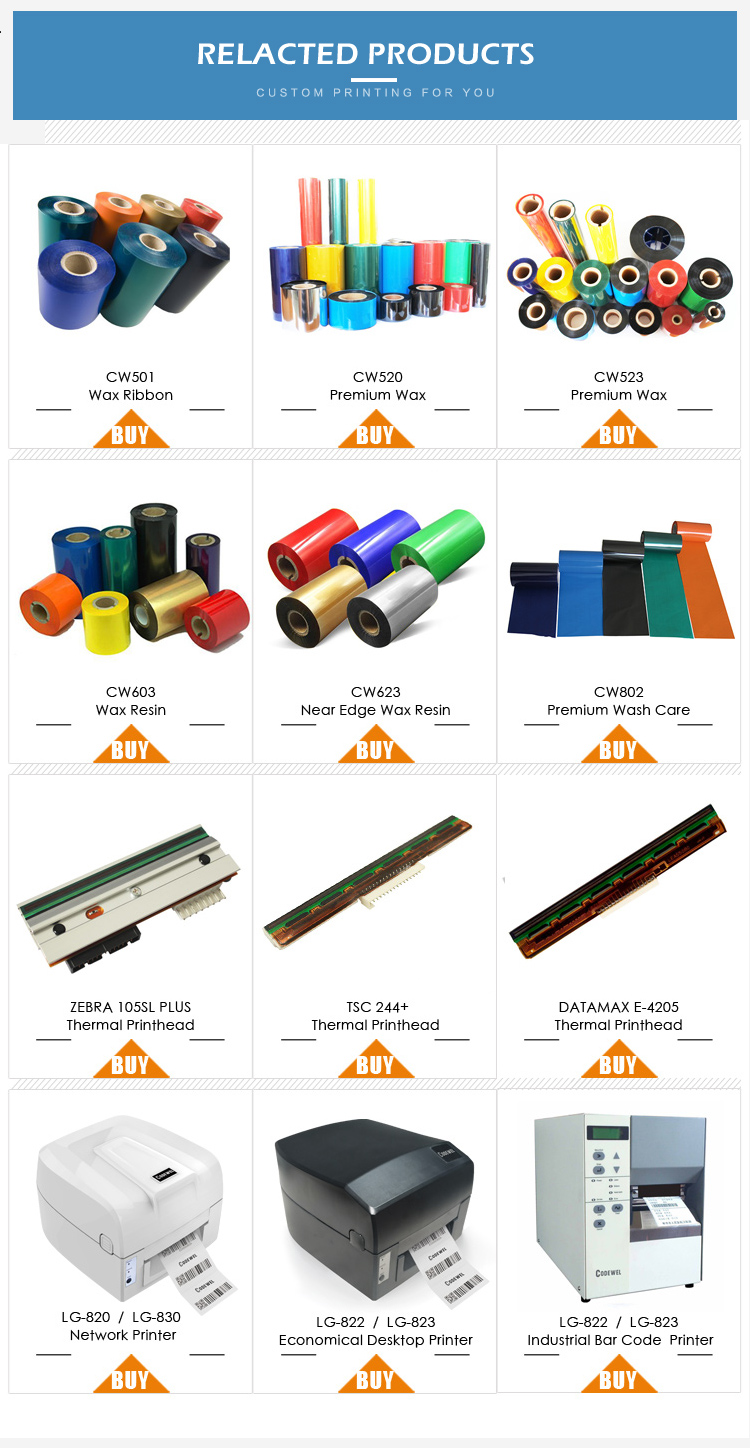 New Arrived 110mmx300m  Compatible Armor  Premium Resin thermal transfer ribbon and wax  ribbon jumbo roll