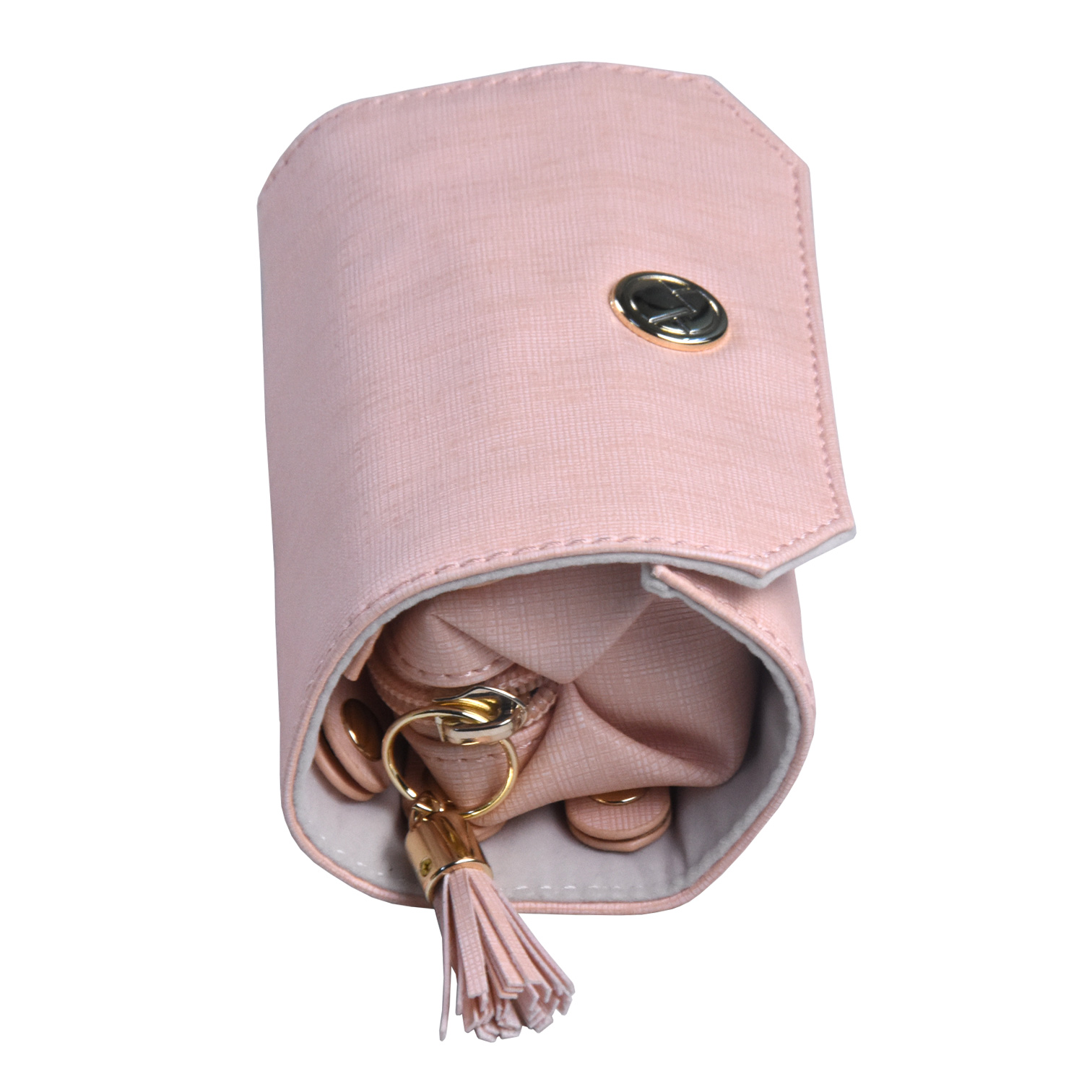 Functional Beautiful Portable Travel Display Velvet Jewelry Roll Bag