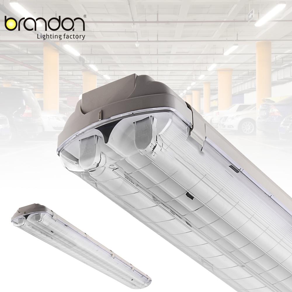 120-277v 4ft t8 водостойкие люминесцентные светильники ip65 3 лампы tri-proof led light