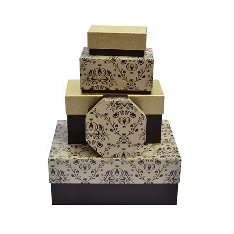 Wholesale Cardboard Nested Christmas Gift Boxes with Lids