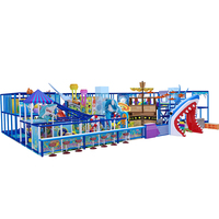 Ocean Style Indoor Playground Kids Soft Play With Rest Area
