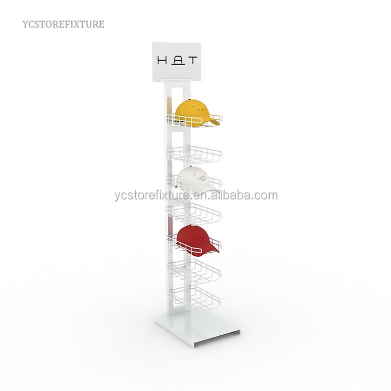 Retail store fixtures floor black wooden helmet display stand
