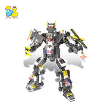 Hot selling 6 in 1 SWAT vervormd robot speciale <span class=keywords><strong>politieagent</strong></span> bouwsteen kid educatief <span class=keywords><strong>diy</strong></span> plastic baksteen <span class=keywords><strong>speelgoed</strong></span>