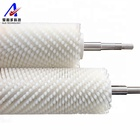 Industrial cleaning roller brush with steel wire shaft