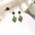 e02954 Free Shipping New Creative Design Green Color Cactus Plant Enamel Delicate Cute Fashion Pendant Earrings