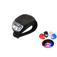 Wholesale Colorful Silicone Bicycle Accessories Light Mini 2LED Bike Tail Light