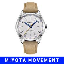 Мужские часы Топ люксовый бренд corgeut модные спортивные часы мужские водонепроницаемые часы мужские военные кожаные автоматические наручны...(Китай)