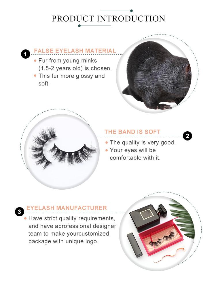 Yeni stil popüler gerçek 3D vizon kirpik özelleştirilmiş manyetik kirpik kutusu 3D vizon kürk kirpik