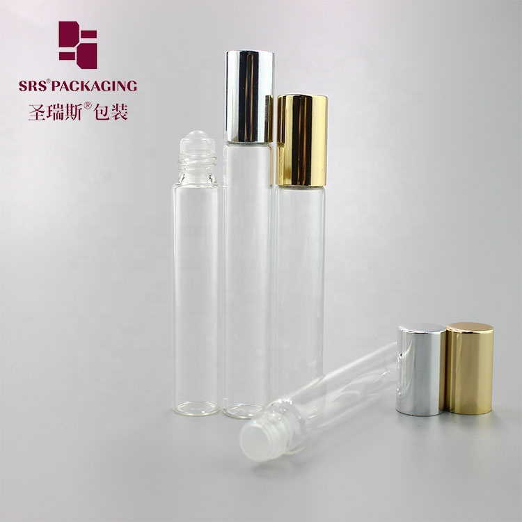 SRS packaging high quality 3ml 5ml 8ml 10ml 15ml roll on clear <strong>empty</strong> glass <strong>perfume</strong> essential oil <strong>bottle</strong>