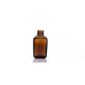 Daily Use Square Glass Bottle Essential Oil Bottles Personal  Care Glass Bottle with Dropper