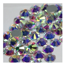 Bulk Commercio All'ingrosso di Cristallo di Vetro <span class=keywords><strong>Strass</strong></span> colla retro AB Rhinestones di Cristallo di Alta Qualità di <span class=keywords><strong>Strass</strong></span> Hot Fix Flatback