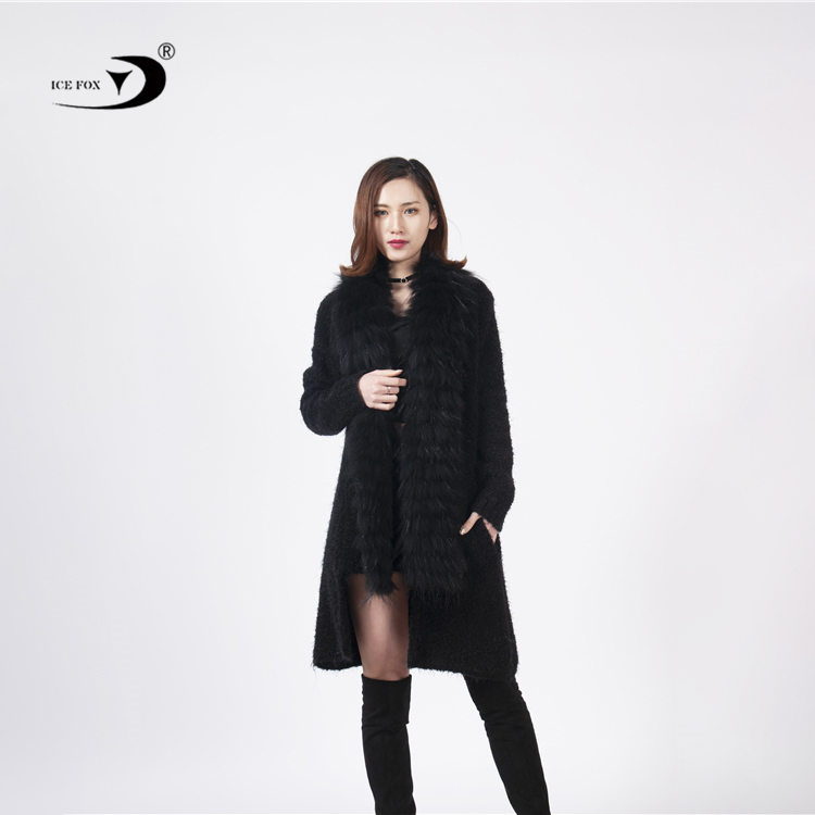 Fashionable design elegant style custom womens <strong>cardigans</strong> casual with fur collar <strong>black</strong> <strong>long</strong> winter <strong>cardigans</strong>