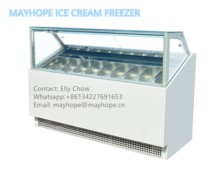 Da Tavolo per uso professionale Superiore Della Torta Display Freezer