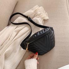 Модная поясная сумка из искусственной кожи для женщин, мягкая кожаная сумка через плечо, простая поясная сумка для отдыха на груди, противоу...(Китай)
