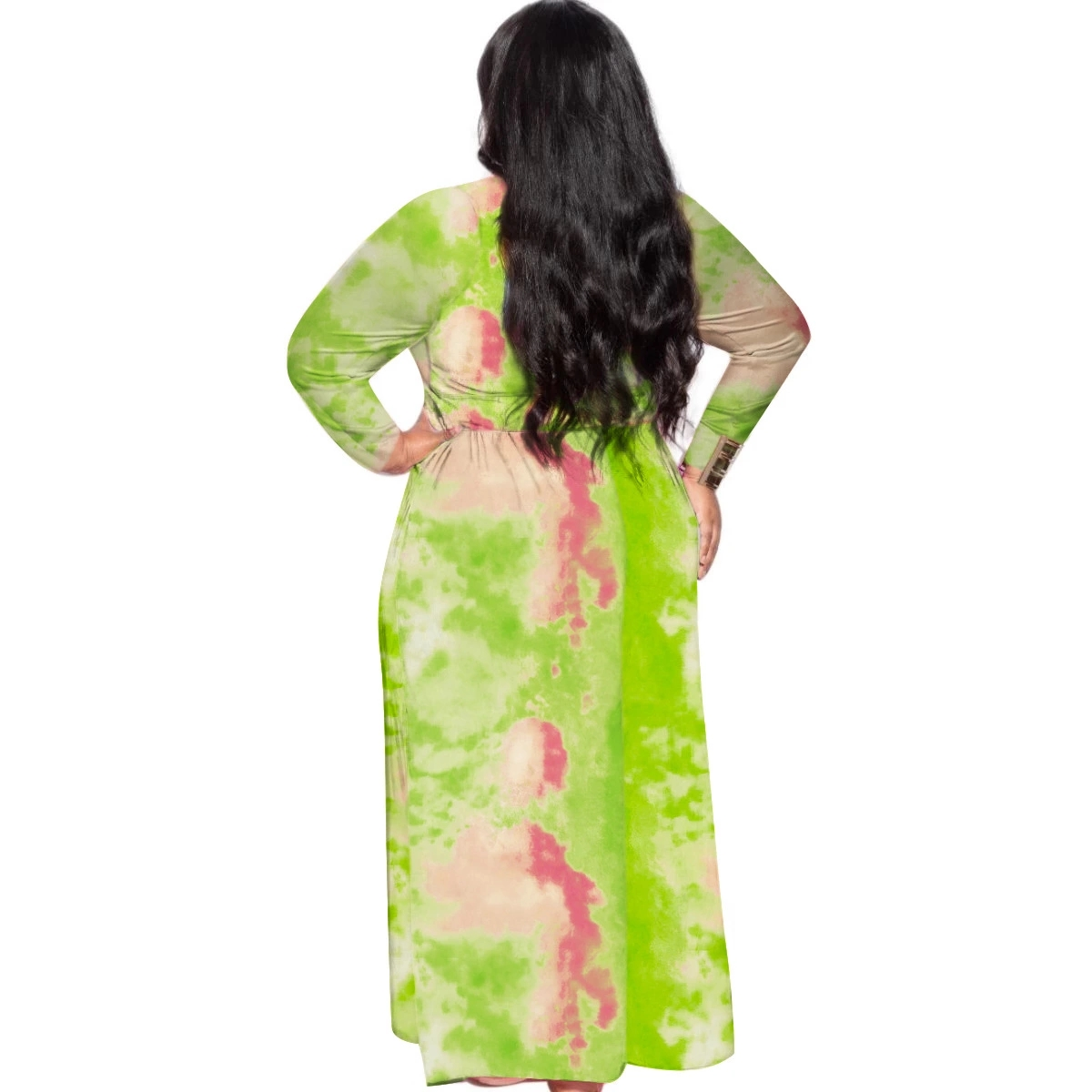 Foma D1063 Hot style fashion tie dye 5XL party wear fashion women clothing plus size dresses