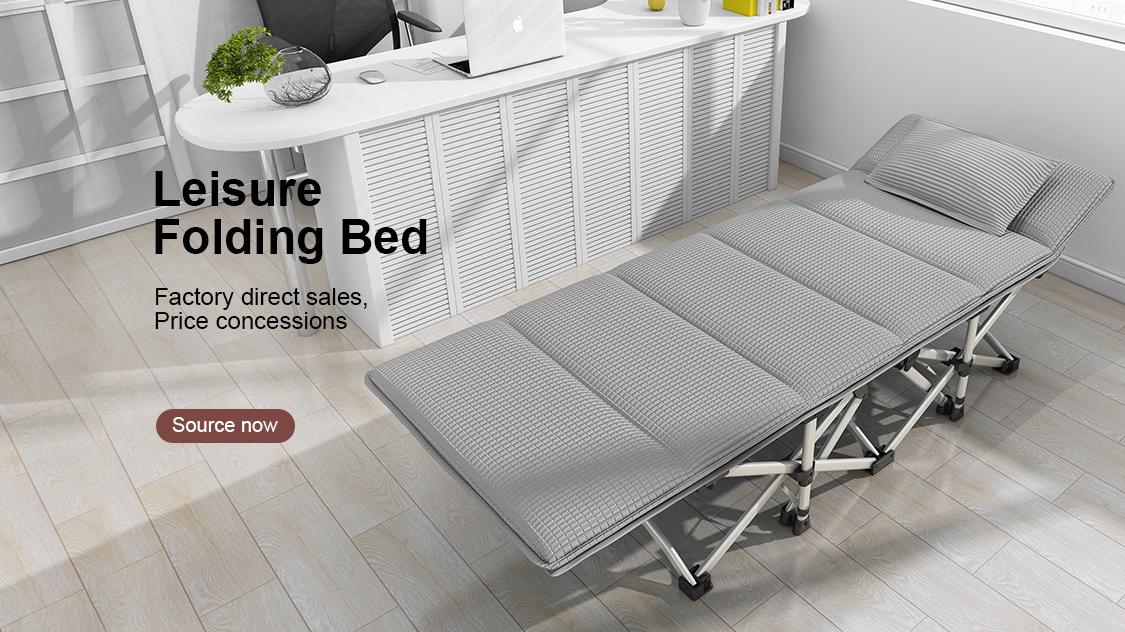캠핑 침대 클래식 들것 금속 접는 야외 맞춤형 프레임의 패브릭