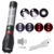 New Model LED Zoom USB Rechargeable Flashlight Alarm Horn Solar Power Torch Light