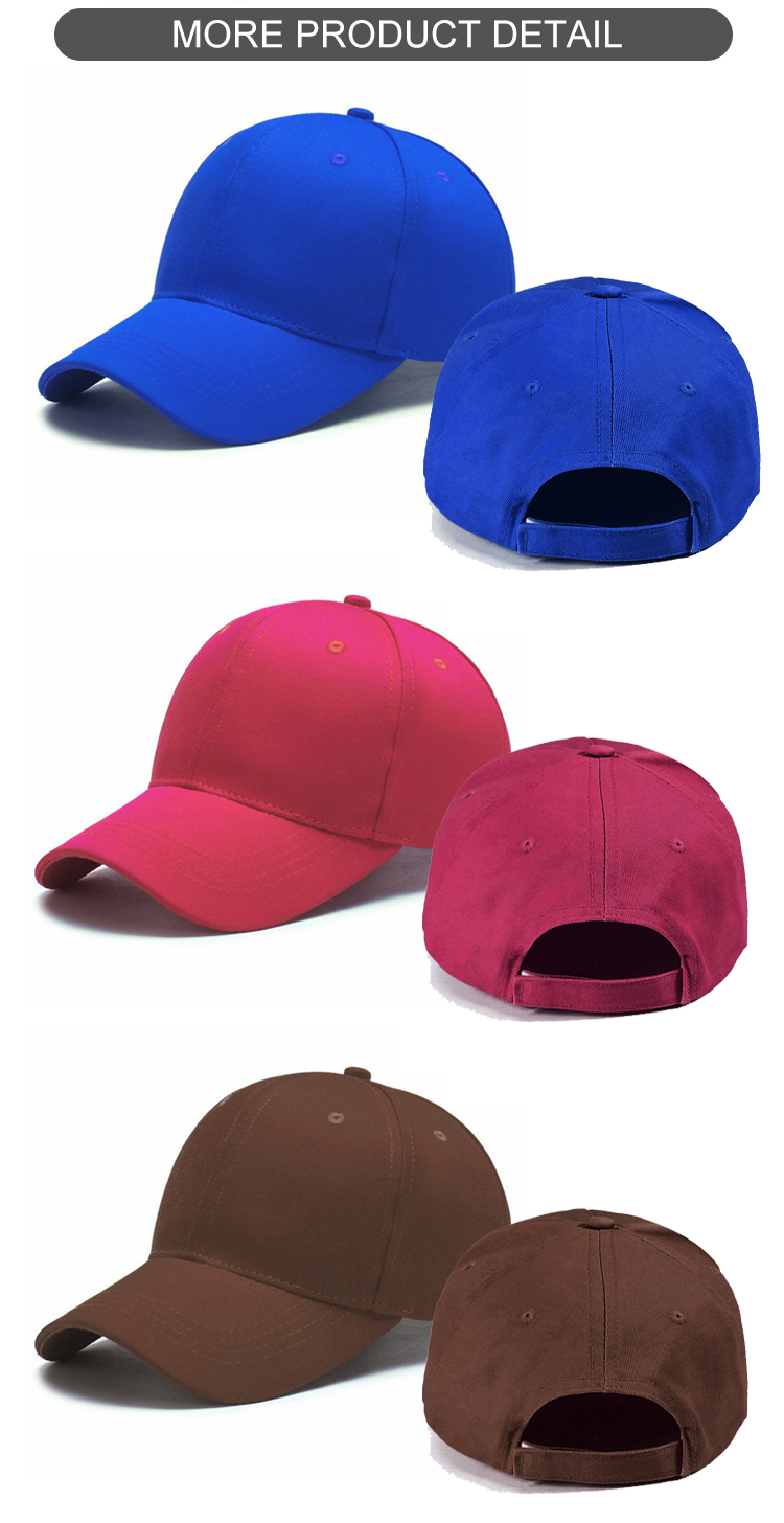 Plain 6 panel Casquette homme baseball hat blank baseball cap with embroidered logo wholesale caps wholesale baseball