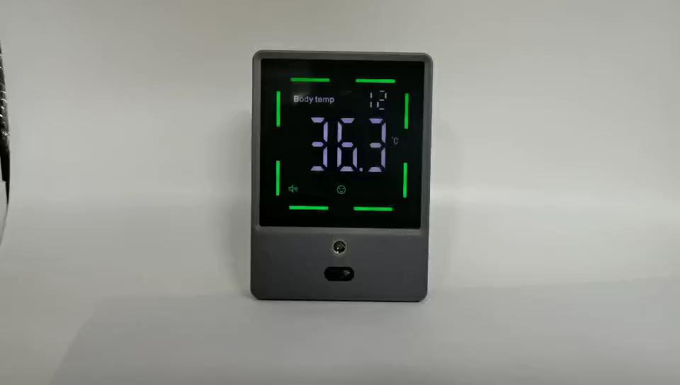 Rosto scanner de temperatura sem contato termômetro infravermelho wall mount termômetro corpo