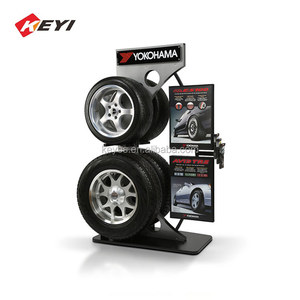 Custom Retail Shop Auto Spare Parts Display Systems / Alloy Wheel Display Stands