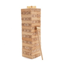 Houten Gestapelde Bouwstenen Math Game Tumbling Tower
