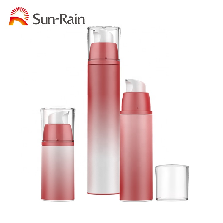 Wholesale  airless cosmetic bottle 15ml 30ml 50ml airless pump bottle cosmetic plastic