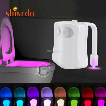 Toilet Night Light by Shinedo, 8-Color Led Motion Activated Toilet Light, Fit Any Toilet Bowl Light with Two Mode Motion