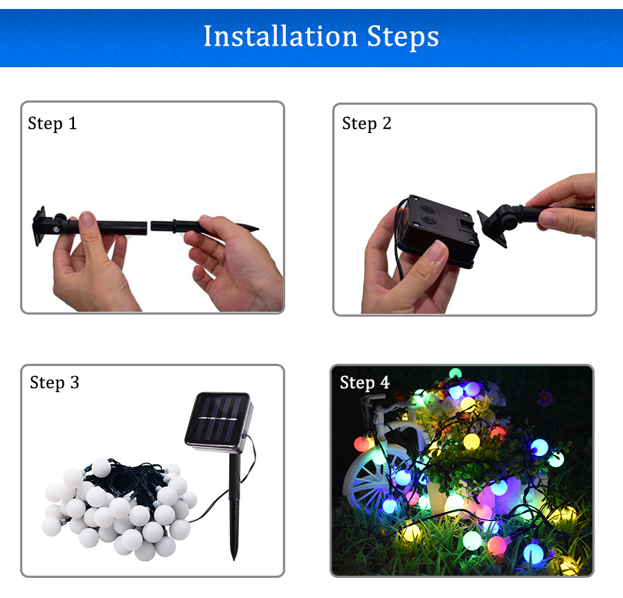 Made in China solar led outdoor balcony decorative lights
