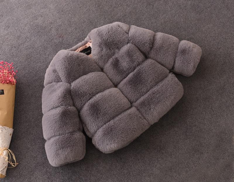شعبية نمط حديث الجمل معطف أطفال الشتاء الفراء معاطف الثعلب سترة فتاة