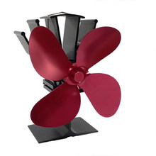 4-Лопастной вентилятор с тепловым питанием для камина, дровяного дерева, домашний эффективный вентилятор распределения тепла, 8 цветов на вы...(Китай)