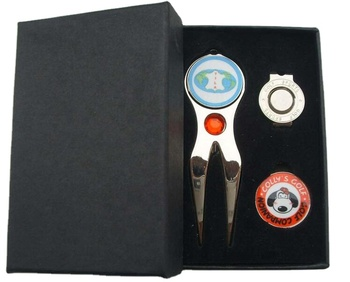 Custom High Quality Golf hat clip and ball marker Golf Accessories Member Gift Pack Sets