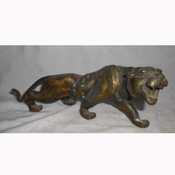 Antique fashion Factory direct sale welding metal outdoor brass tiger statue