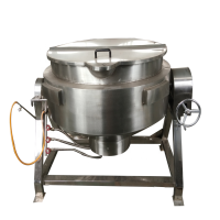 200 liter Steam Double layer Jacketed Cooking Kettle Meat emulsion Sandwich Boiler Jacketed Kettle