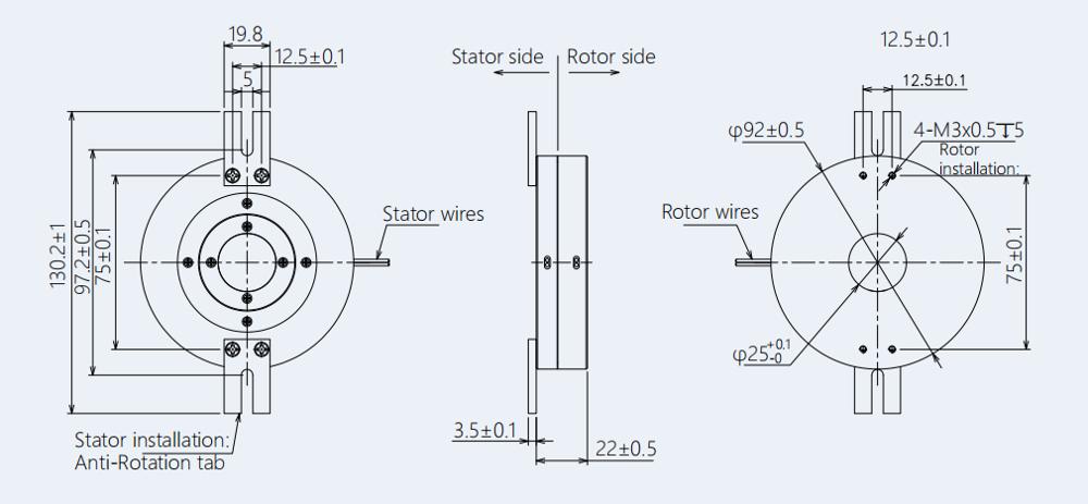 Integral Pancake Capsule Slip Ring Maintenance Free Low Torque Smooth Reliable Operation