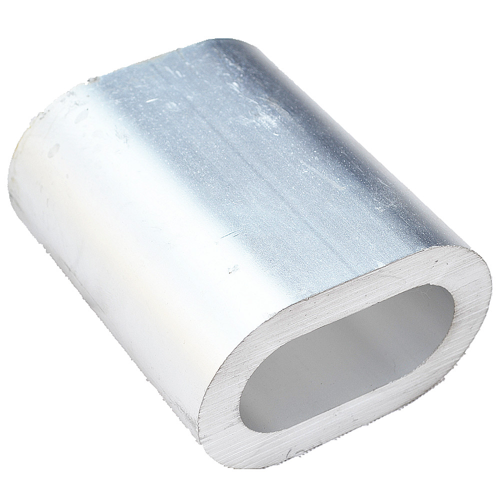 Aluminum Sleeves Oval Double Hole hourglass shape ferrules for Crimping steel Wire Rope ferrule