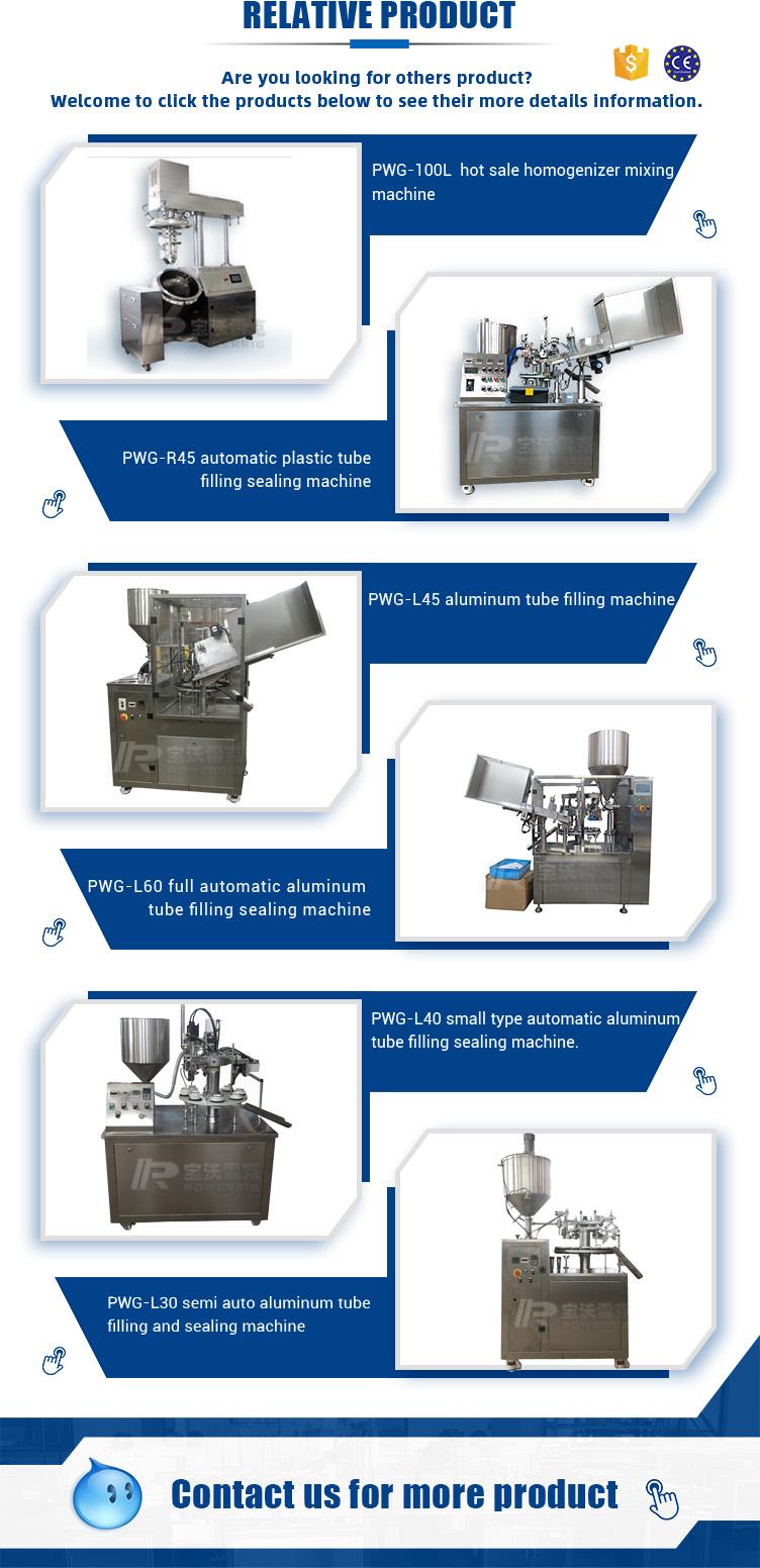 Automatic aluminum tube shoe polish filling machine with speed 60-80 tubes per minute