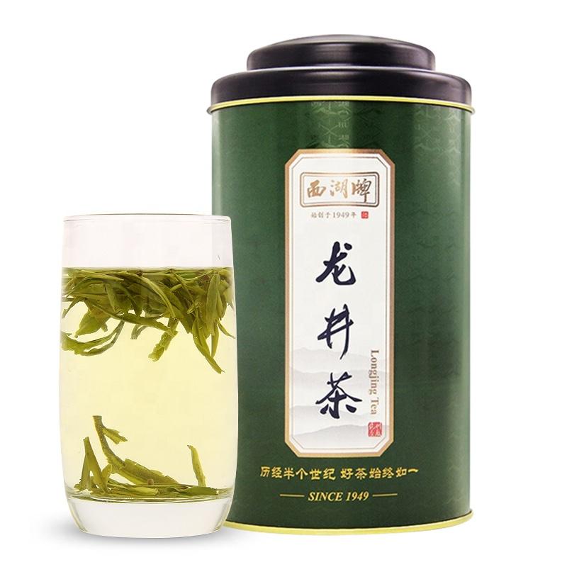 Hangzhou Longjing Tea 100g round can 2020 Spring Harvest Grade C Dragon Well loose leaf tea China Green Tea - 4uTea | 4uTea.com