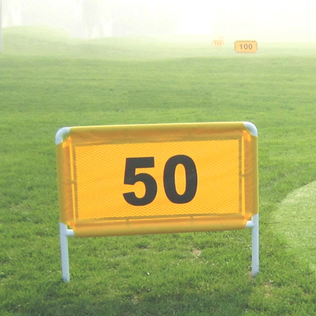 Golf driving range distance number steel frame  number cloth